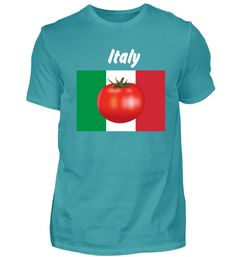 Italy Tomate Weiß T-Shirt Mens Tops