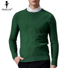 Find More Pullovers Information about Troilus Sweater Men 2016 New Arrival Winter Round Neck Solid Color Long Sleeve Sweater Men Pullover Knitwear Cashmere Sweaters,High Quality sweater men,China sweater loose Suppliers, Cheap sweater coat from Troilus Flagship Store on Aliexpress.com