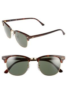 Main Image - Ray-Ban Standard Clubmaster 51mm Sunglasses https://tmblr.co/ZRlNZd2NZw2a3