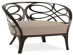 Iron armchair Noè by Cantori
