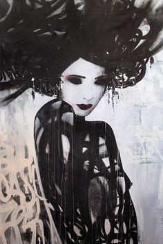 "Hush: (a través de la revista Juxtapoz - Vista previa: ""Motion"" Muestra Colectiva @ Corey Helford Gallery | Actual)"