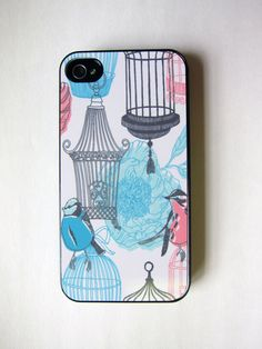 Birdcage Floral iPhone Case Pastel by whiskeykittens on Etsy, $20.00