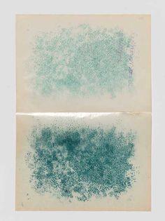 Dominique de Beir  la vie des animaux, 2008, perforations vertes sur papier cristal