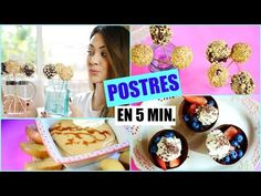 POSTRES FÁCILES SIN HORNO | 3 ideas deliciosas! Lizy P - YouTube