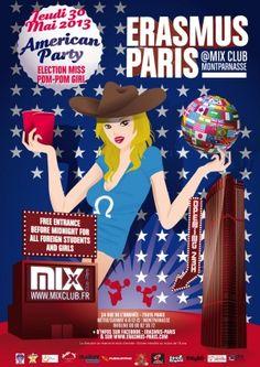 Erasmus Paris : American Party