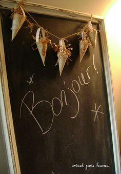 Bonjour chalkboard