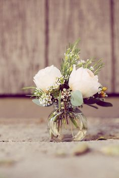 Peach Rosebuds in a Bud Vase | Ashley DePencier Photography | See More: http://heyweddinglady.com/country-romance-pastel-spring-wedding-insp...