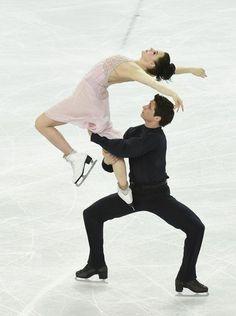 Beautiful moment during Tessa Virtue and Scott Moir's ice dance free dance program.