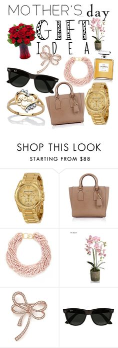 """""""Mother's day gift ideas"""" by nightandstar ❤ liked on Polyvore featuring Michael Kors, Kenneth Jay Lane, Chanel, Bloomingdale's, Ray-Ban, Palm Beach Jewelry and mothersdaygiftguide"""