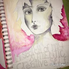 In search of my creative Self. Drawing and painting by Nic Hohn.