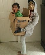 Homemade Kidnapped Costume- kristin u should try this with Ellen :)