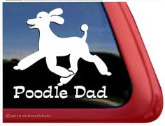 Poodle Mom Trotting Dog Decals & Stickers | NickerStickers