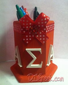 Whoo my craft made it on Pinterest :)    One of our customers sent to us. Rebecca V. did a great job. DIYGreek.com #asa #greek #sorority #sister #gift #lil #little #big #alpha #sigma #ladybug #crown