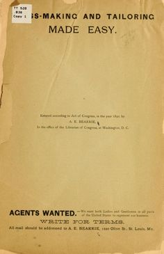 1890-The perfect dress fitter ... Complete instructions in the art of cutting all kinds of garments