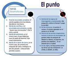 Uso del PUNTO (.)