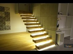 Stair Makeover with Accent Lighting (Speed Build #1) - YouTube