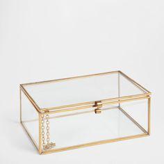 Caixa vidro e metal