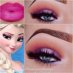 Disney's Frozen makeup - Elsa.