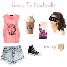 Going To Starbucks, created by emmiev123 on Polyvore