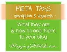 Meta Tag Description & Keywords. Conquering SEO!