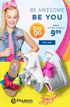 The JoJo Siwa Collection for girls! My Princess, Little Princess, Cute Girl Outfits, Kids Outfits, School Fashion, Girl Fashion, Teen Girl Shoes, Skate Party, Good Attitude