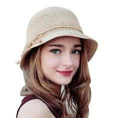 Sedancasesa moda mujeres rafia crochet sombrero de paja sombreros de verano  sombrero de ala ancha para 691c7bb7e2c