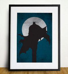 Batman Poster A3 Print by sanasini on Etsy, $18.00