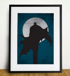 Batman Poster A3 Print by sanasini on Etsy, $18.00