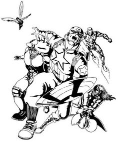 Marvel Heroes Coloring Pages Coloring Pages Amp Pictures
