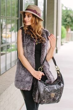 The #KellyWynne Here's to You Hobo in Deep Plum Python -- Get yours today at <<<WWW.KELLYWYNNE.COM>>> #daretobefabulous xo