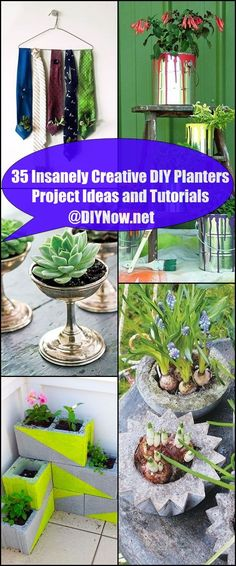 35 Insanely Creative DIY Planters Project Ideas and Tutorials