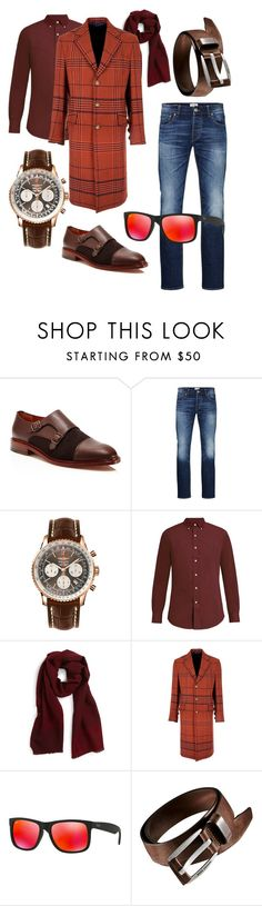"""""""Fall in Town"""" by tanrei ❤ liked on Polyvore featuring Crosby Square, Jack & Jones, Breitling, Polo Ralph Lauren, Salvatore Ferragamo, Vivienne Westwood Man, Ray-Ban, men's fashion and menswear"""