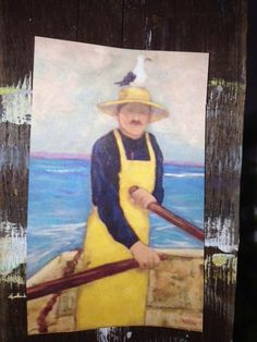 Painting by one of the Girard Avenue Collection featured artists, Alyce Quackenbush. #LaJolla #Fisherman #nautical #art