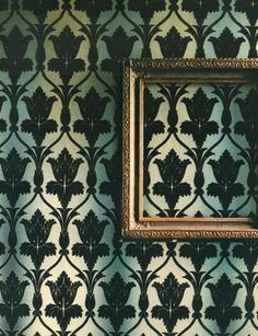Zoffany wallpaper, used in BBC Sherlock. - Buy your own Sherlock wallpaper! Does not come with yellow smiley face. Sherlock Living Room Wallpaper, Zoffany Wallpaper, Eclectic Wallpaper, Flock Wallpaper, Framed Wallpaper, Nureyev, Pub, Sherlock Bbc, Benedict Sherlock