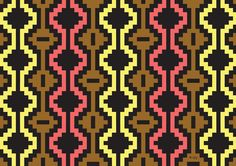 """Inca Art   Inspired by the Mapuche textile art, here is my version of the """"Tribal ..."""