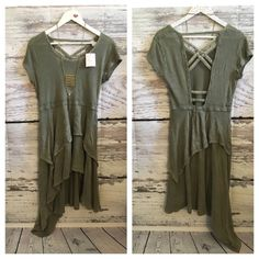Free people NWT army high low dress New with tags in size small Free People Dresses High Low