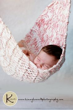 Knit Crochet Hanging Hammock Photography Prop by OopsIKnitItAgain, $45.00