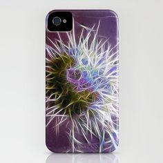Cactus with Colour iPhone Case by F Photography and Digital Art - $35.00