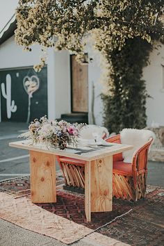 Boho Sweetheart Table- Mike + Shane's Alamo Motel Wedding, Los Alamos, CA , Tyler Branch Photo, Planning + Coordination Art & Soul Events