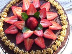 torta de chocolate y frutillas!