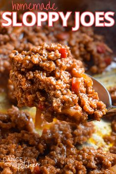 Try these Homemade Sloppy Joes and you'll never buy the canned sandwich sauce again! This recipe is full of flavor and comes together quickly for a yummy weeknight meal! #SloppyJoes #WeeknightMeals #MealIdeas #Sandwiches Honey Garlic Pork Chops, Honey Garlic Sauce, Kitchen Recipes, My Recipes, Favorite Recipes, Weeknight Meals, Quick Meals, Tender Pork Chops, One Pot Spaghetti
