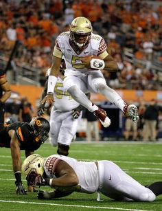 I thought this was amazing. Watch the clip in FSU's hype video on youtube, search Fsu shake it off video and it should come up