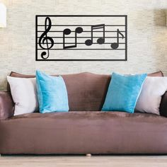 Deccort | Musical Note Metal Tablo Bed Pillows, Pillow Cases, Musicals, Note, Metal, Metals, Musical Theatre