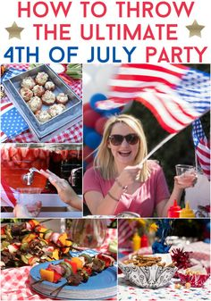 Your friends at Tasty, Nifty, and Top Knot have come together to help you plan the ultimate of July bash, and make party planning a little easier. We've got you covered, from food to fashion. Here Is How To Plan The Ultimate Of July Fourth Of July Food, 4th Of July Party, July 4th, Holiday Treats, Holiday Parties, Holiday Fun, Camilla, 4. Juli Party, Bottle Label