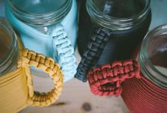paracord mason jar holder