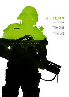 Classic Movie Poster Series: Aliens - Joseph Harrold