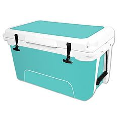 MightySkins Protective Vinyl Skin Decal Wrap for RTIC 45 qt Cooler cover sticker Solid Turquoise *** Details can be found by clicking on the image.(This is an Amazon affiliate link)