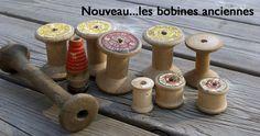old spools ... bobines de bois anciennes