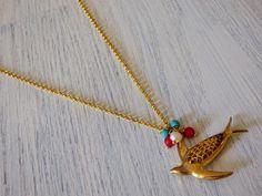 Collar Dorado Multicolor por SerendipityMX en Etsy