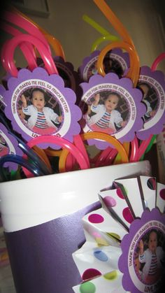 Doc McStuffins Party Favors: Crazy Straws